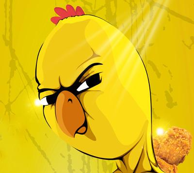 노랑통닭 포스터